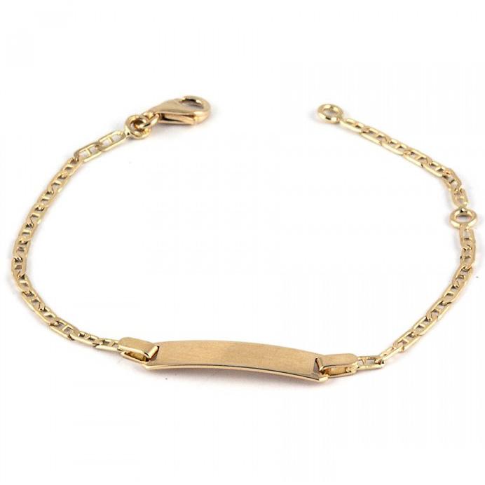 Bracelet de baptême en or